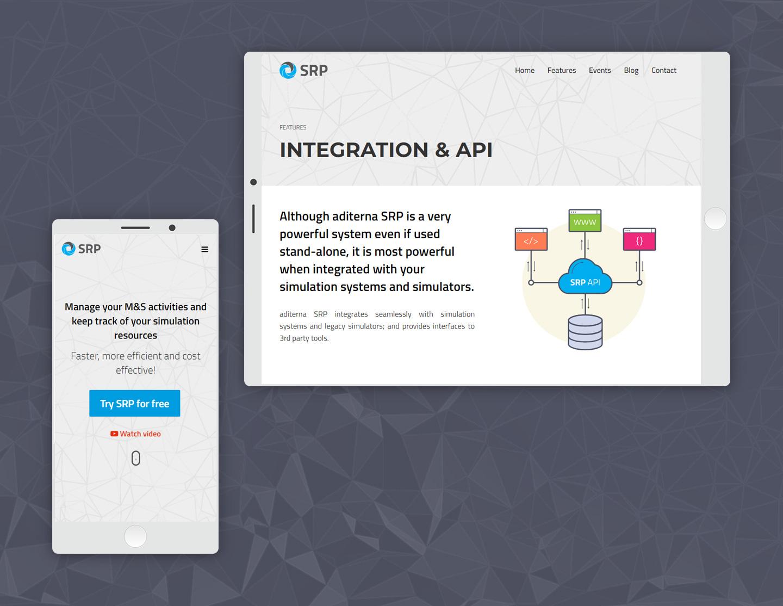 website de prezentare aditerna SRP - responsive design
