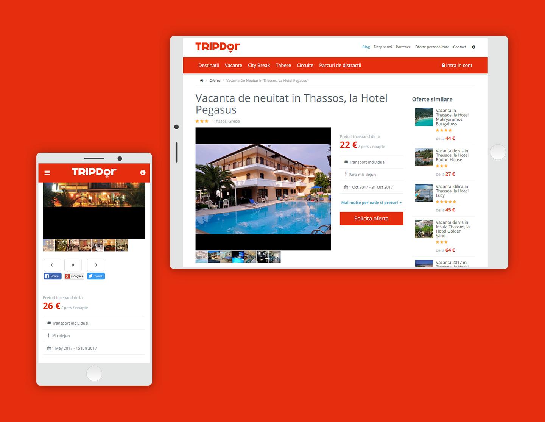 TRIPDor website responsive